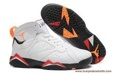 reputable site e5ca2 468b5 scarpe calcio Uomo Bianco Nero Giallo CARDINAL AIR JORDAN 7 RETRO Air  Jordan Shoes