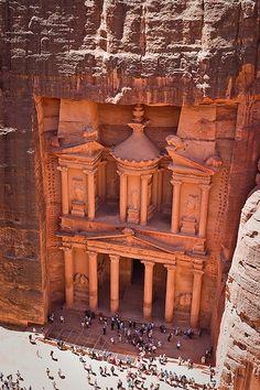 Petra, Jordan   Green Blue Globe