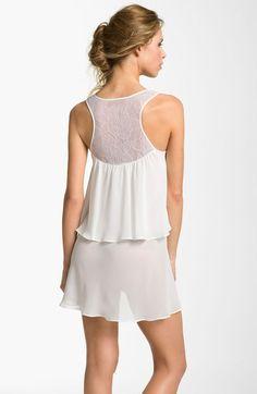 Oscar De La Renta Sleepwear Lovely Layers Chemise in White (pearl) - Lyst  Pyjamas bd8158271
