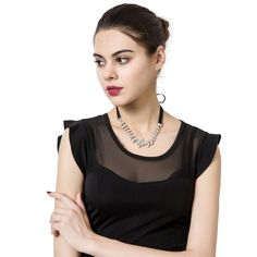 Occident and the United States alloy Diamond necklace Jewelry Supplies, Jewelry Stores, Affordable Jewelry, Wholesale Jewelry, Camisole Top, United States, Tank Tops, Diamond, Shopping