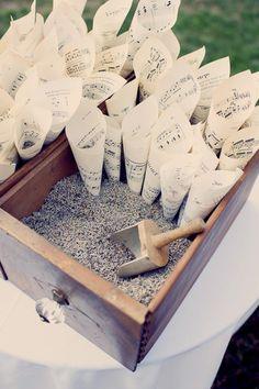 Rożki z lawendą na weselu