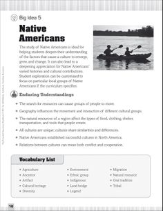 Native Americans: Essential Questions for Social Studies