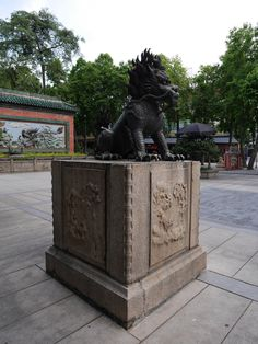 Lion or Dragon statu