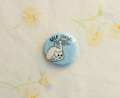 Self Care Rules Cat Pin / Illustration by Beth Spencer