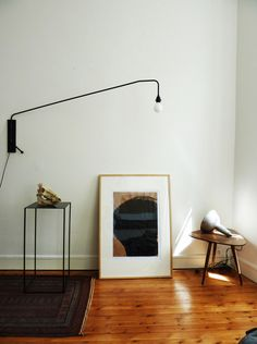 Potence Lamp by Jean Prouve Modern Interior, Interior Styling, Interior Architecture, Interior And Exterior, Interior Decorating, Stylish Interior, Kitchen Interior, Home Renovation, Home Remodeling