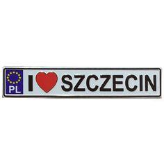 Nevera imán matrícula Szczecin. Un imán de nevera, un recuerdo de Szczecin, en forma de placa de metal con relieves, en forma de matrícula. #imán #imándenevera #cerdas Licence Plates, Cool Gadgets, Souvenir, Magnets, Je T'aime, Fit