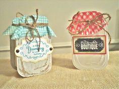 Goodie boxes created with Sizzix Mason jar die by Carmen Garcia