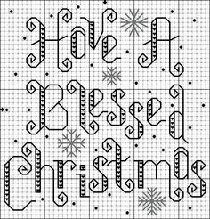 Cross-stitch Christmas...  no color chart available, can use one color for a silhouette.. or choose your own colors...