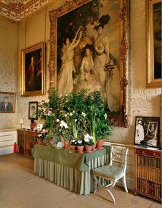 Chatsworth - Ralph Lauren photographed one the women's Safari perfume ads in this room.