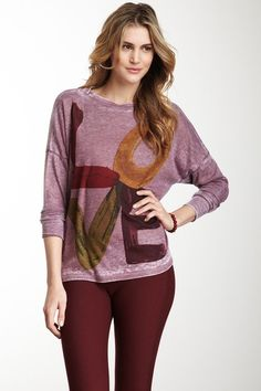 {Rainbow Love Dolman Thermal Top} Go Couture