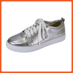 afa3bda17ae8 FIC FUZZY Anita Women s Wide Width Walking Shoes SILVER 8.5 - Sneakers for  women (