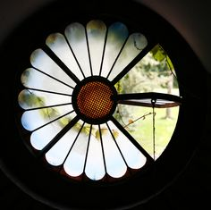 Little round windows that looked over the garden...