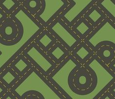 [Blanket/Rug] Road Work fabric by evenspor on Spoonflower - custom fabric Presents For Boys, Gifts For Boys, Quilting Projects, Sewing Projects, Quilting Ideas, Sewing Ideas, Diy Projects, Fabric Websites, Perfect Wallpaper