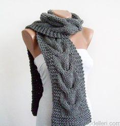 Unique DIY knitted scarf/ çok farklı bayan atkı modeli
