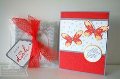 stampin up, watercolor wings, malerische grüße, Geschenkanhänger