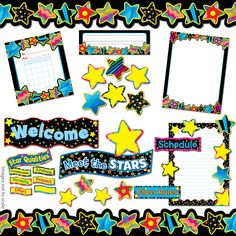 star classroom theme | Of course, I couldn't love just ONE bulletin board set. I used this ...