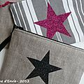 De nouvelles pochettes avec des étoiles pailletées, en lin ou en toile à matelas. Parce que nous avons toujours besoin d'une pochette... Sewing Hacks, Sewing Projects, Love Couture, Diy Purse, Creation Couture, Couture Sewing, Twinkle Twinkle Little Star, Purses And Bags, Diy Crafts