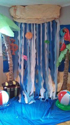 Tablecloth waterfall Son Treasure Island VBS 2014