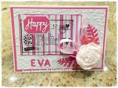 Dla Evy Handmade Birthday Cards, Handmade Cards, Craft Cards, Diy Birthday Cards, Diy Cards, Homemade Birthday Cards, Homemade Cards, Card Making Inspiration, Handmade Crafts