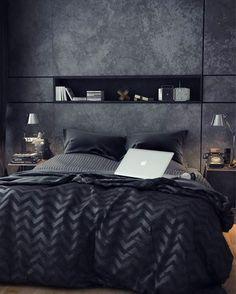 #architecture_hunter Black Bedroom, by Amna Mulabegovich Art & Interior Architecture