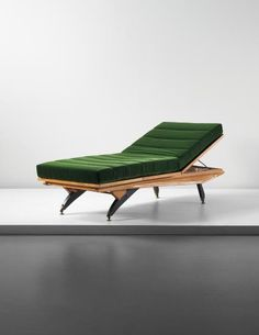 Carlo Mollino, Unique adjustable daybed, designed for Casa Orengo, Turin