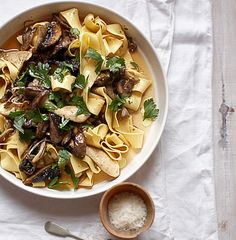 Pappardelle with mushroom ragù