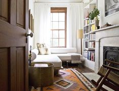 Have you got a landing, a spare room, a bit of hallway—any particularly small sliver of space in your home that's searching for its purpose? Narrow rooms can pose a special challenge, but this doesn't mean that you can't make the most of that space. Here's a little inspiration for getting the most out of a (really, really) narrow room.