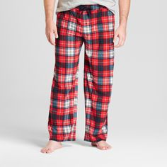Men's Big & Tall Fleece Pajama Pants - Goodfellow & Co Ripe Red 3XBT