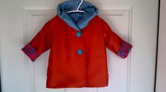 Child's Red Car Coat 12 Months C51/15 by zoya49 on Etsy