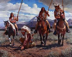 Horse Catchers By John Fawcett Native American Horses, Native American Pictures, Native American Artwork, Native American Artists, American Indian Art, Western Comics, Tribal Images, Woman Riding Horse, Indian Drawing