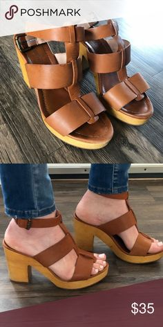 f2211088030b Madewell Sandals Good as new cognac heeled sandal Madewell Shoes Sandals  Madewell Sandals