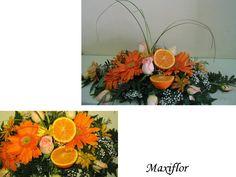 centro con naranjas
