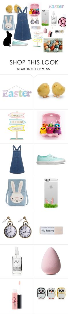"""""""Let's Go Into The Easter World!"""" by mysticsjy ❤ liked on Polyvore featuring WALL, Topshop, Vans, Casetify, MAC Cosmetics and Forever 21"""