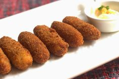 Explore the taste of Crispy Potato and Cheese Croquettes Recipe. This dish is tasty, yummy, flavorful, and easy to prepare. It is perfect for any occasion. Vegan Chicken Cutlet Recipe, Chicken Cutlets, Best Pasta Recipes, Dog Food Recipes, Snack Recipes, Breakfast Recipes, Cheese Croquettes Recipe, Bread Cutlet, Brain Healthy Foods