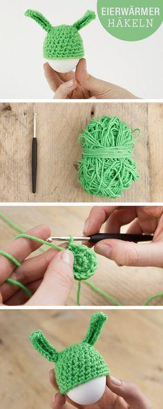 Blumenstecker Zu Ostern Free Pattern Crochet Kostenlos