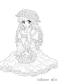 ぬりえ工房 ユメイロ の画像|☆ドリーミィー・フェザー☆ Vintage Coloring Books, Coloring Book Art, Adult Coloring Book Pages, Cute Coloring Pages, Printable Adult Coloring Pages, Animal Coloring Pages, Chibi, Free Adult Coloring, Princess Coloring