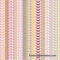 Daisy Cottage Stripe on white by Riley Blake Designs