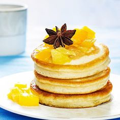 Low Carb Joghurt-Pancakes mit Apfelkompott