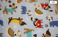Multi Dog Fleece Fabric Dog blanket Fleece - SHIPS FAST by FabricPremier on Etsy