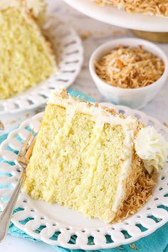 Coconut Custard, Custard Cake, Coconut Cheesecake, Coconut Desserts, Coconut Recipes, Easy Desserts, Delicious Desserts, Coconut Cream, Moist Coconut Cake Recipe