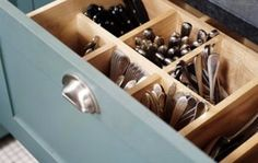 deep drawer silverware storage