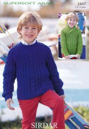 Sirdar Pattern Sweater in Supersoft Aran, McA direct Knitting Patterns Boys, Christmas Knitting Patterns, Arm Knitting, Jumper Patterns, Crochet Books, Knit Crochet, Knitting Supplies, Knitting Projects, Universal Yarn