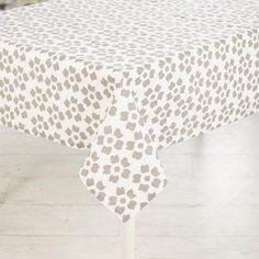Mode Poppy Tablecloth Taupe 150 x 230 cm