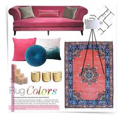 """""""Rug Colors"""" by cowseatchard ❤ liked on Polyvore featuring interior, interiors, interior design, home, home decor, interior decorating, See by Chloé, The Moroccan Room, Illume and Frontgate"""
