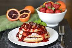 Blood Orange Ricotta Pancakes