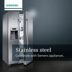 A staple of kitchen designs, stainless steel can look great when coordinated with appliances #MJ #SiemensAppliances http://www.milliganandjessop.com