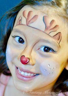Rudolf face painting