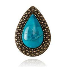 SAMANTHA WILLS Bohemian Bardot Ring Cobalt Blue