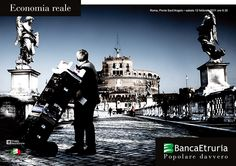 #Roma, Ponte Sant'Angelo: Economia reale (2011).