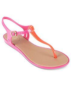 Mel by Melissa, Blackberry flat. T strap jelly sandal